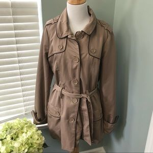 Therapy Lightweight Belted Trench Coat Large